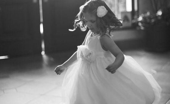 twirling cotton flower girl dresses
