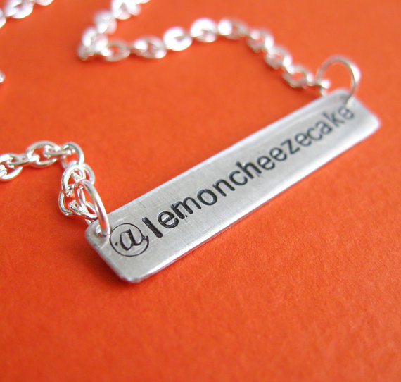 5 Ways to Embrace Social Media at Weddings - twitter necklace by spiffing jewelry