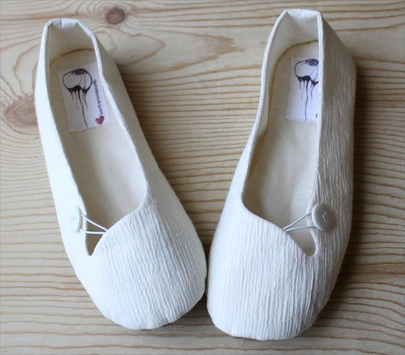 Eco Wedding Ideas - vegan bridal flats by hydra heart