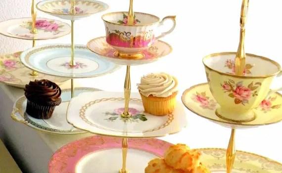 vintage china cupcake stand