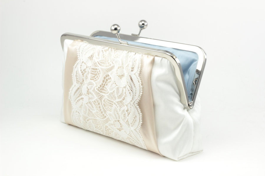 vintage lace clutch purse