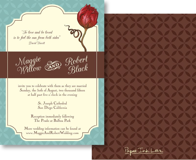 need wedding invitations fast? try this printable!