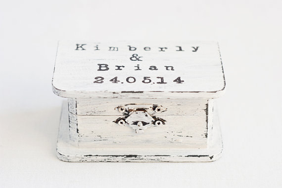 vintage inspired typewriter wedding ring box