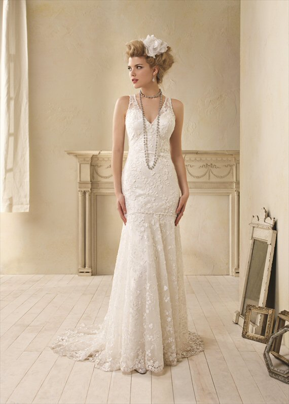 vintage inspired wedding gowns alfred angelo emmaline