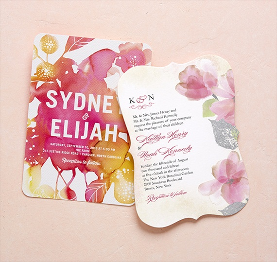 Watercolor - Wedding Stationery Trends 2014 via EmmalineBride.com