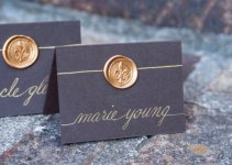 wax seal wedding place cards