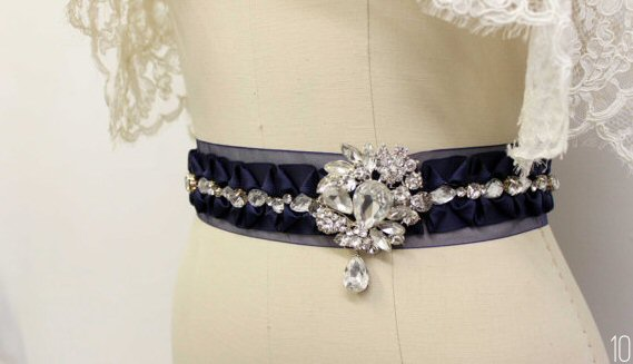 Wedding Dress Sashes (by Dream Catcher Studio via Emmaline Bride)