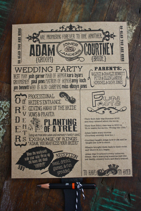 word search wedding programs by southern bella vita design studio