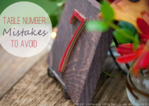 wedding table number mistakes to avoid