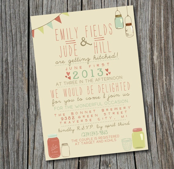 Printable Wedding Invitation (by Splash of Silver)