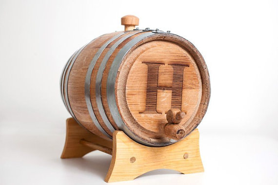 Wedding Gift Ideas for Groomsmen (whiskey barrel: the man registry)