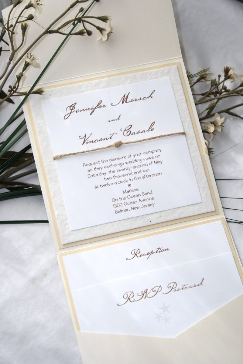 wildflower plantable wedding invitation