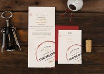 wine themed wedding invitation