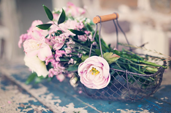 Wire Flower Girl Basket (by PNZ Designs, photo by Melania Marta) - What Does a Flower Girl Do? via EmmalineBride.com