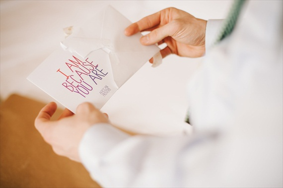 Must-Have Detail:  Write a Letter to the Groom (photo: michelle gardella)