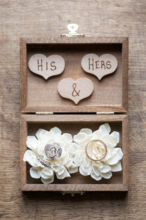 wood ring bearer box