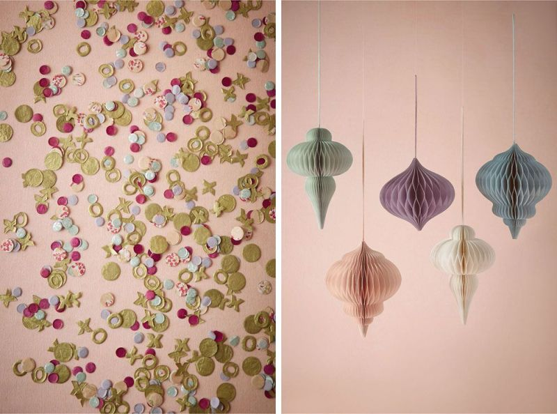 This XO confetti is so cute! | via BHLDN Decor Ideas | http://emmalinebride.com/vintage/bhldn-decor-ideas-weddings/