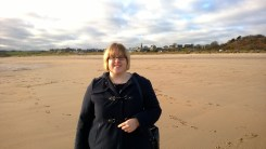 Me on Alnmouth Beach