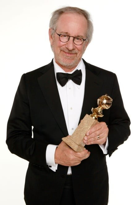 "BEVERLY HILLS, CA - JANUARY 15: Director Steven Spielberg, winner of the Best Animated Film Award for ""The Adventures of Tintin"" poses for a portrait backstage at the 69th Annual Golden Globe Awards held at the Beverly Hilton Hotel on January 15, 2012 in Beverly Hills, California. (Photo by Christopher Polk/Getty Images)"