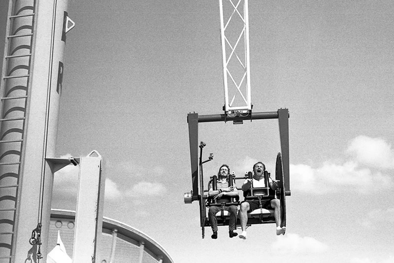 """""""Strangers on Rides"""", Calgary Stampede, Calgary, Alberta - Leica M3   Zeiss C-Sonnar 1,5/50mm   Ilford HP5+ 400"""