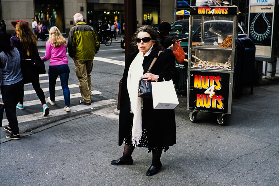'Nuts' - New York City, 2015 (Leica MP - Voigtlander 35 f/1.4 - Fuji Provia 100F)