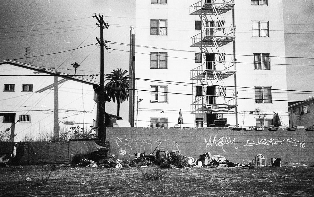Empty lot in Korea Town | Arista Premium 400 ISO + Canon Autoboy