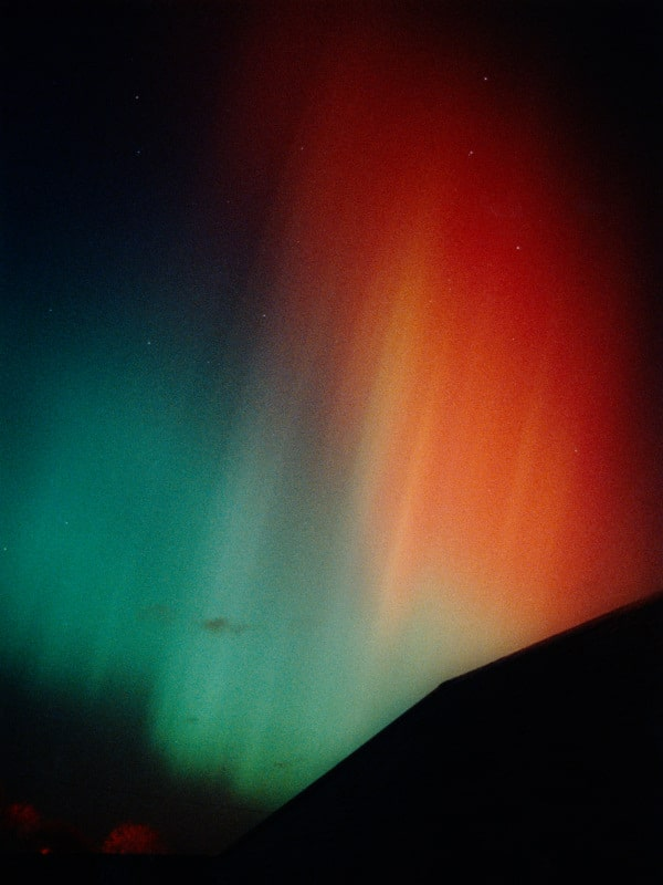 Aurora over Musselburgh - Canon EF, Kodak Ektapress 1600