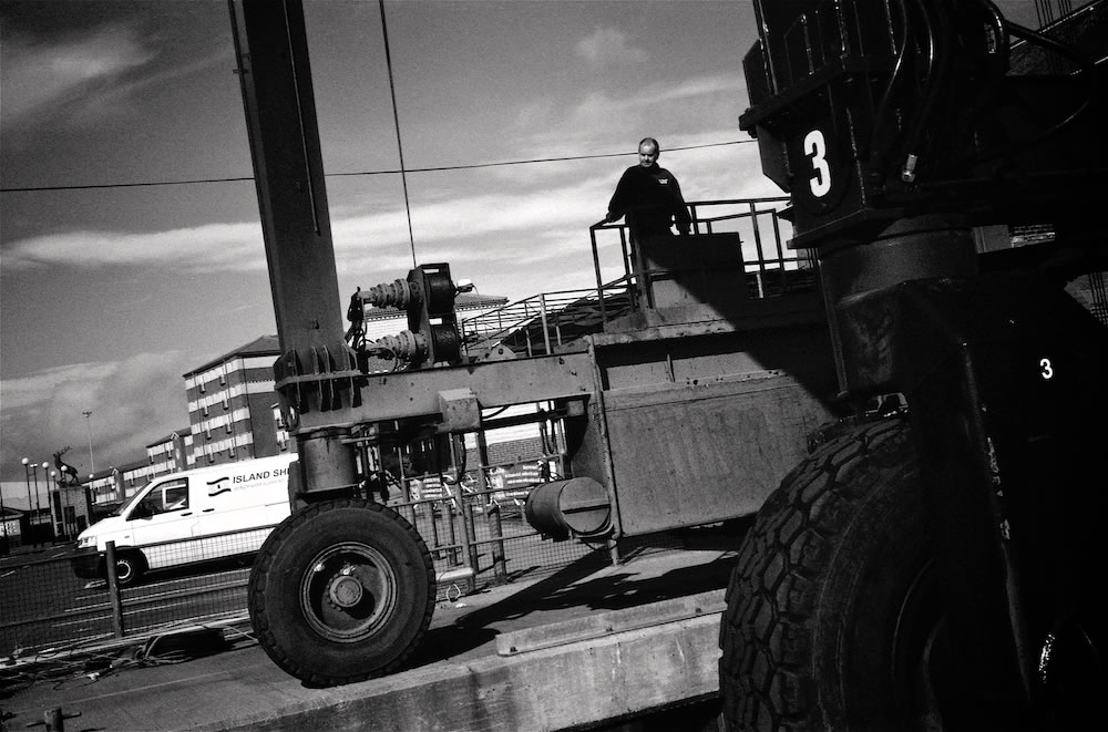 Harbour Master: Olympus 35RC on Ilford FP4 pushed to 200ASA with Yellow Filter