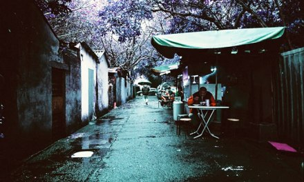 Lunch – Lomochrome Purple XR 100-400 (35mm)