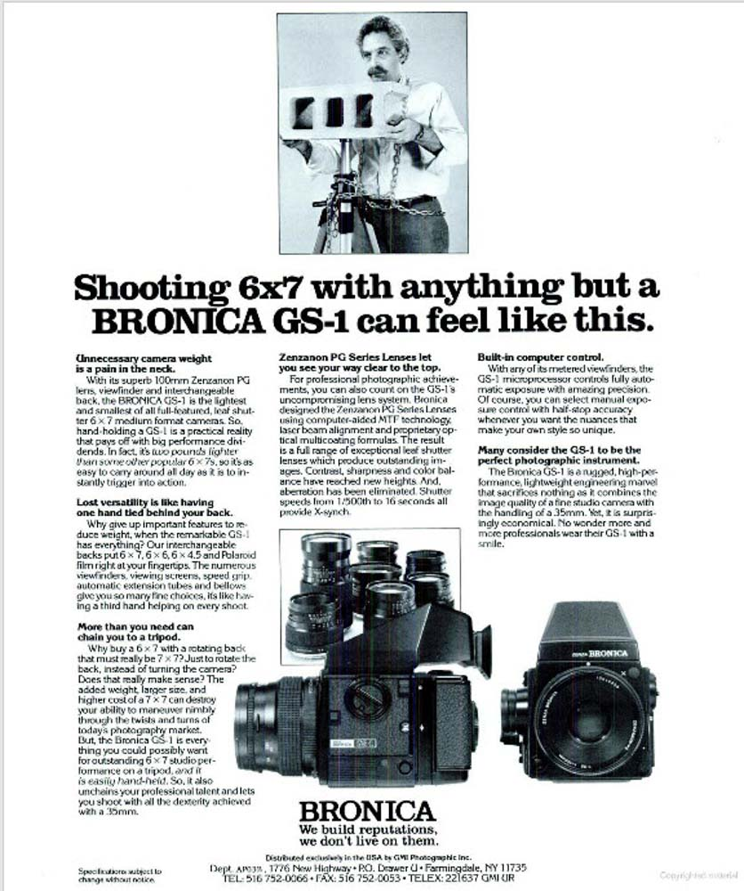 Bronica GS-1 - Cinder block