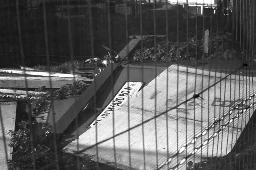 """Churchyard Row"", Elephant & Castle, London SE11, January 2014 -Ilford Delta 100 / Zeiss Ikon / Zeiss 50mm f/1.5"
