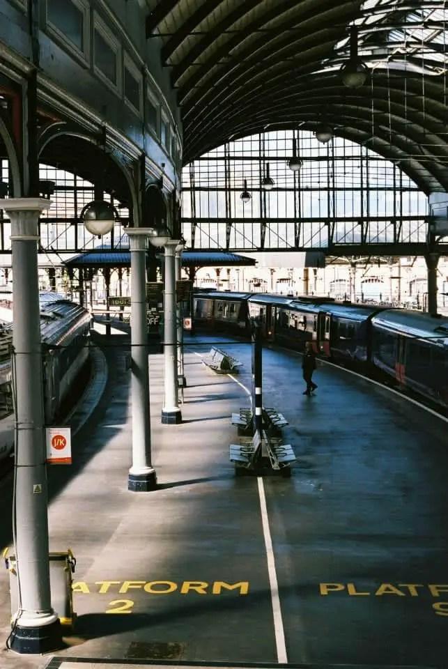 """""""North/South Platform"""" Newcastle Station, Newcastle, June 2015 - Fuji Superia 400 / Canon EOS3 / Canon 50mm f/1.8"""