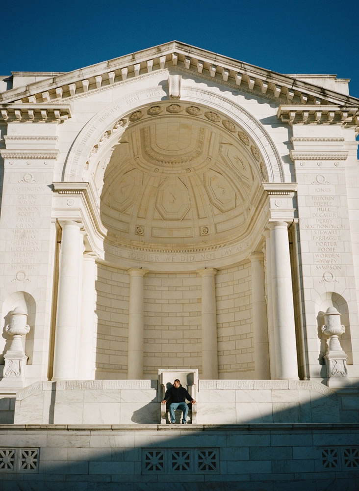 Ampitheater of the Tomb of the Unknown Soldier. Fuji GA645, Kodak Portra 400.