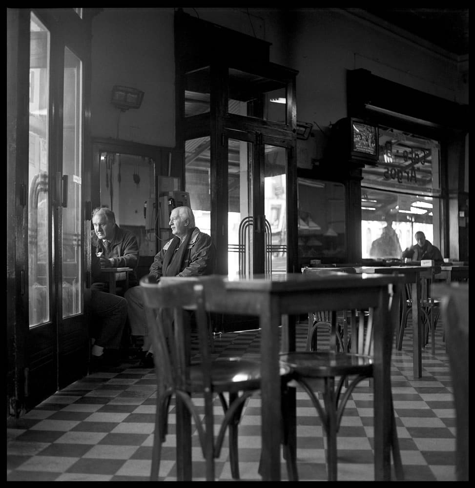 """Cafe Argos, Buenos Aires"" Yashica TLR, Kodak Tri-X"