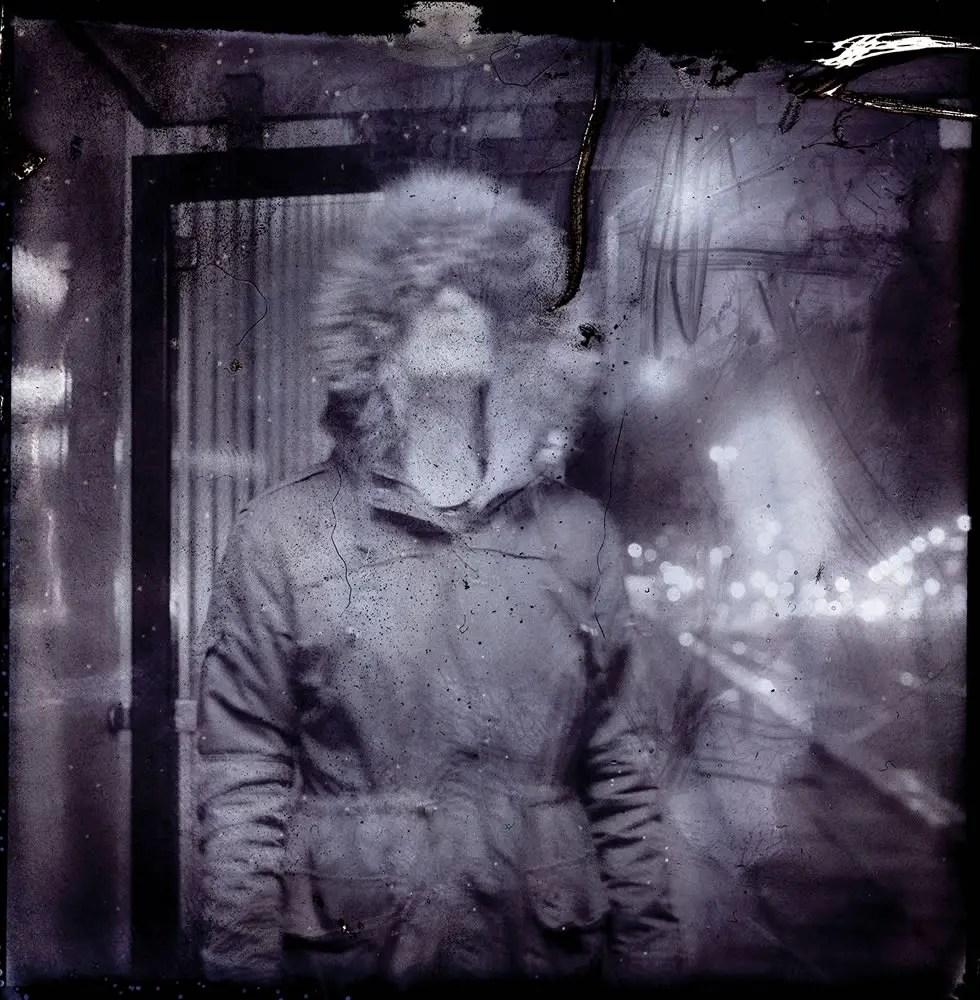 Nightcall - SX-70 B&W film negative