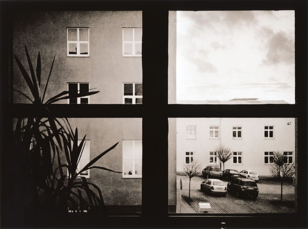Office window (darkroom print scan)