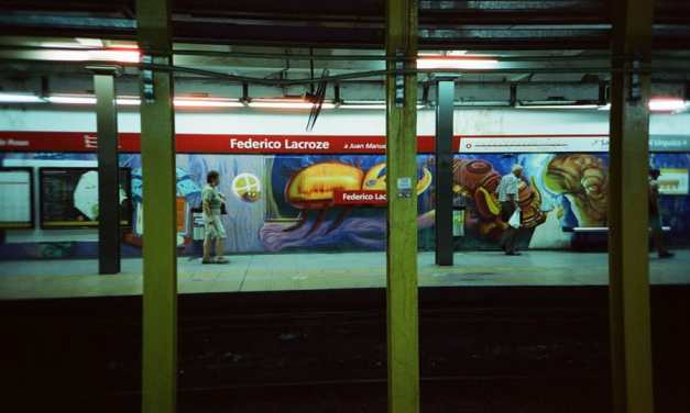 Film review: Cinestill 800T vs Fuji 800 (35mm) inside the Buenos Aires underground aka Subterranean Explorations by Lorraine Healy