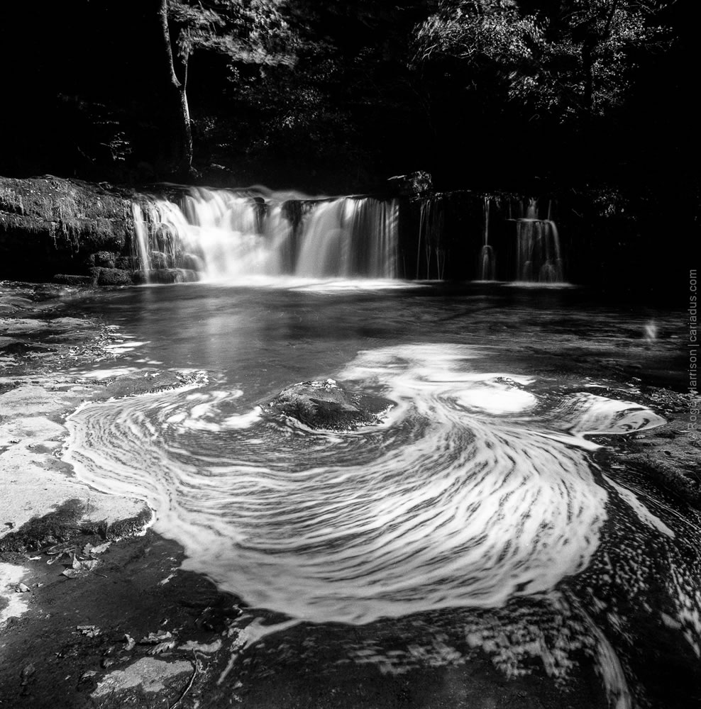 Water Falls, Neath Valley, Hasselblad 503CX, Distagon CF 40mm, Ilford FP4+