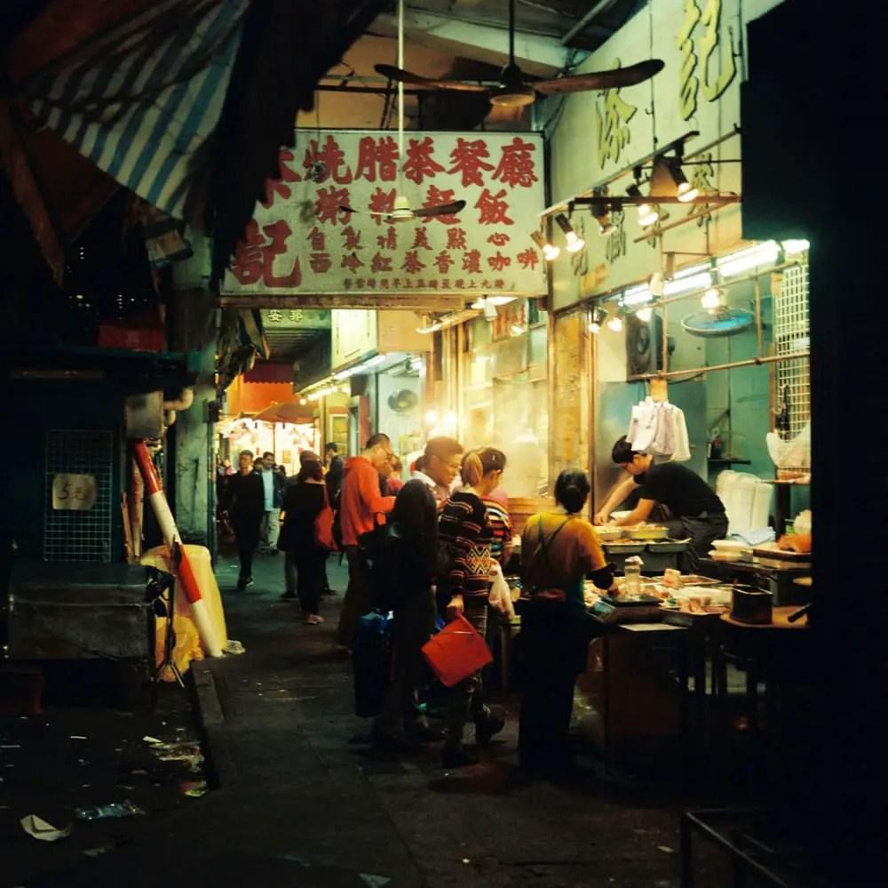 Sham Shui Po, food stalls - Kodak Portra 800 - Fuji GS645W