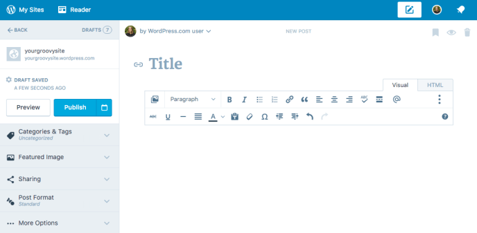 Post and Page Screen — Support — WordPress.com