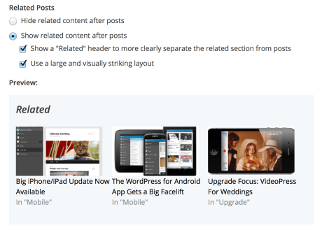Related Posts — Support — WordPress.com
