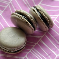 Licorice Fudge Macarons