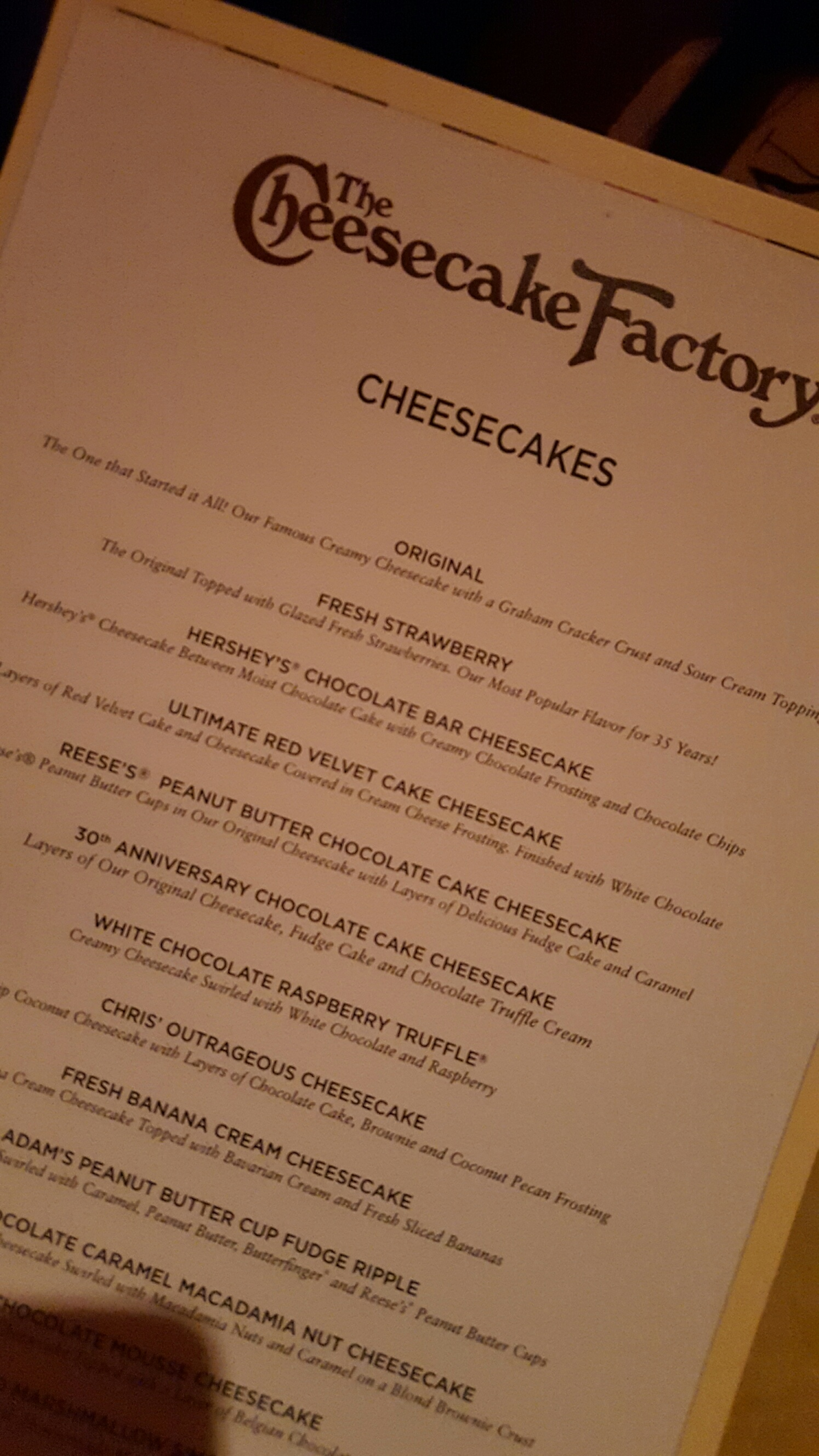 Fullsize Of Cheesecake Factory Lunch Menu