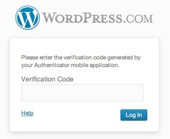 Verification text Box for Codes 2 step Authentication WordPRess