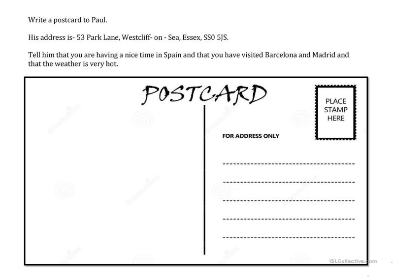 Large Of How To Write A Postcard