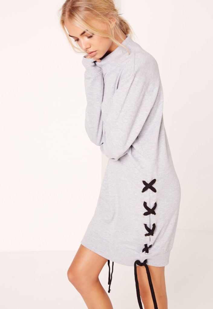Lace knitted dress MissGuided