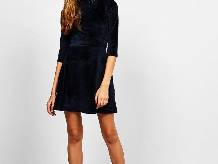 Velvet dress Bershka