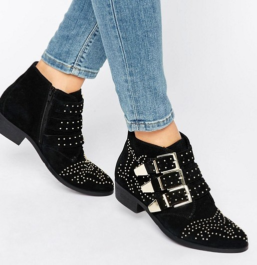 Studded boots Asos