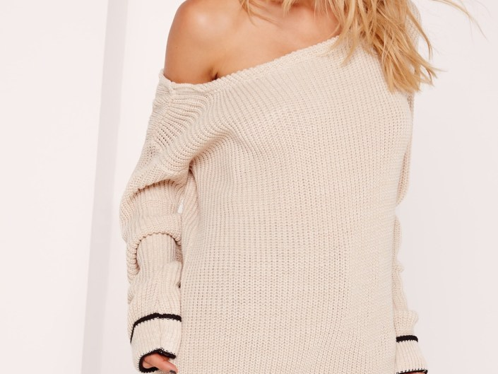 Nude pull with naked shoulder MissGuided