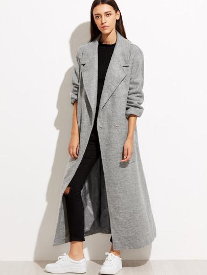 Oversize gray coat Shein
